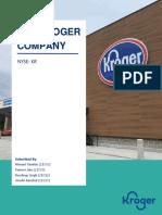 Kroger Case Analysis