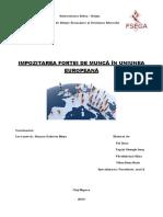 Proiect impozitarea forței de muncă în UE