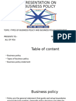 business policy presentation