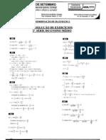 Matemática - Pré-Vestibular7 - Trigonometria - Resolução de Exercícios VI