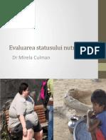 2.Evaluarea statusului nutrițional