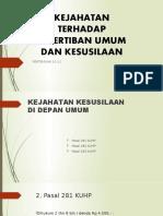 KEJAHATAN TERHADAP KETERTIBAN UMUM DAN KESUSILAAN 10-12.pptx