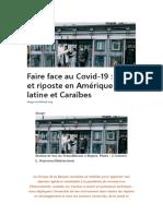 Faire Face Au Covid-19 Défis Et Riposte en Amérique Latine Et Caraibes
