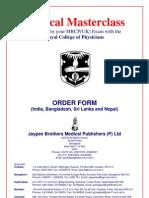 Jay Pee Order Form