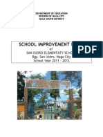 School Improvement Plan of San Isidro Elementary School Naga City 2011 2013
