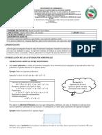 Guia 1 de Trabajo Octavo - Algebra