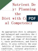 Planning the diet .pptx