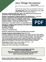 200229 Quidhampton Village Newsletter March 2020