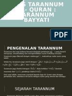 Asas tarannum al- quran (taranum bayati)