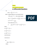 Linear Differential Equations MCQ