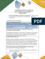 Guia de actividades y Rúbrica de evaluación -  Unidad 2-Tarea 2- Mapa conceptual