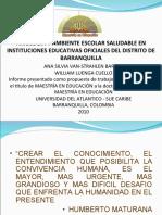 AXIOLOGÍA Y AMBIENTE ESCOLAR SALUDABLE EN INSTITUCIONES EDUCATIVAS OFICIALES DEL DISTRITO DE BARRANQUILLA