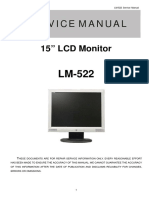 AOC TFT-LCD Color Monitor LM522 Service Manual