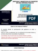 BENEFICIOS Y VENTAJAS DE INVERSION EN UNA EMPRESA PUBLICA.ppt