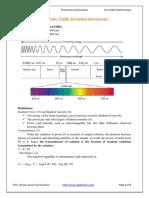 Ultraviolet- visible absorption spectroscopy