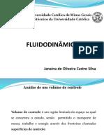 Fluidodinâmica - Equações Básicas na Forma Integral para um Volume de Controle