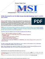 User guide for MSI HQ Forum Flash Tool