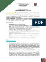 Manual para el trabajo del PROYECTO SOCIOPRODUCTIVO - CEAB 19-2020