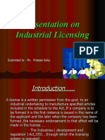 Rajesh Gomra Ppt on Industrial Licencing