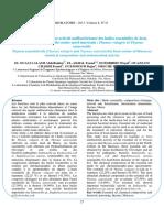 Composition Chimique Et Activité Antibactérienne Des Huiles Essentielles de Deux