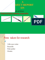 RAJESH GOMRA PPT on Project Report on Pen