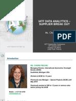 7. Paris IATF Stakeholder Event Data Analytics Supplier Breakout