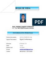 HOJA DE VIDA DE RAUL