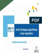 Arrêt Cardiaque Algorithmes Et Per Opératoire