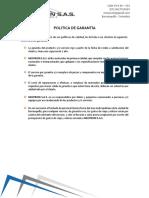 POLITICA GARANTIA