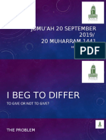 Begging Jumu'ah 20 September 2019