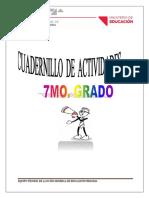 CUADERNILLO PARA 7MO GRADO