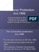 Consumer Protection Act,1986