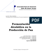 Fermentación Alcohólica en la Producción de Pan