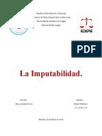 La Imputabilidad En Derecho Penal
