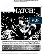 St. John's Final Four coverage — March 31, 1985