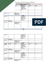 Tabela de atividades 1