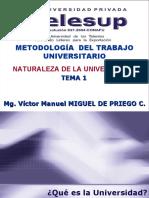 1. Naturaleza de la Universidad.