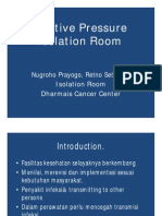 Positive Pressure Isolation Room