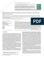 Characterization of edible emulsified films with low affinity to water based on