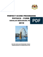 Physics Perfect Score Module Form 4