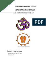Report on jnana yoga