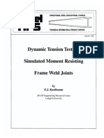 1997 - 08 Dynamic Tension Test of Simulated Moment Resisting Frame Weld Joints