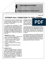 Exterior Wall Connection to Steel Framing