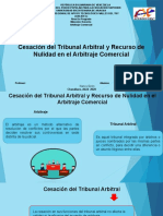 Cesación del Tribunal Arbitral y Recurso de Nulidad en el Arbitraje Comercia