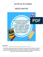 Cuadernillo de Actividades covid-19  MEDIO MAYOR