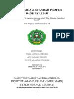 MAKALAH  ETIKA KERJA DAN STANDAR PROFESI BANK SYARIAH