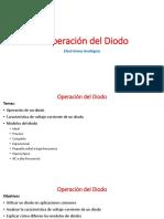 2. Operacion del Diodo