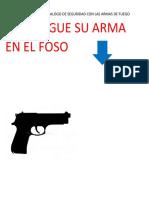 PONGA EN PRACTICA EL DECALOGO DE SEGURIDAD CON LAS ARMAS DE FUEGO