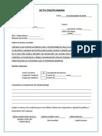 Acta Disciplinaria Primera1 DIANA ADANA