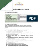 DESCRIPCIÓN Y PERFIL DEL PUESTO- RECLUTADOR